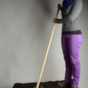 Gartendisk (Unkrautmesser) mit langem Eschenstiel (130cm)