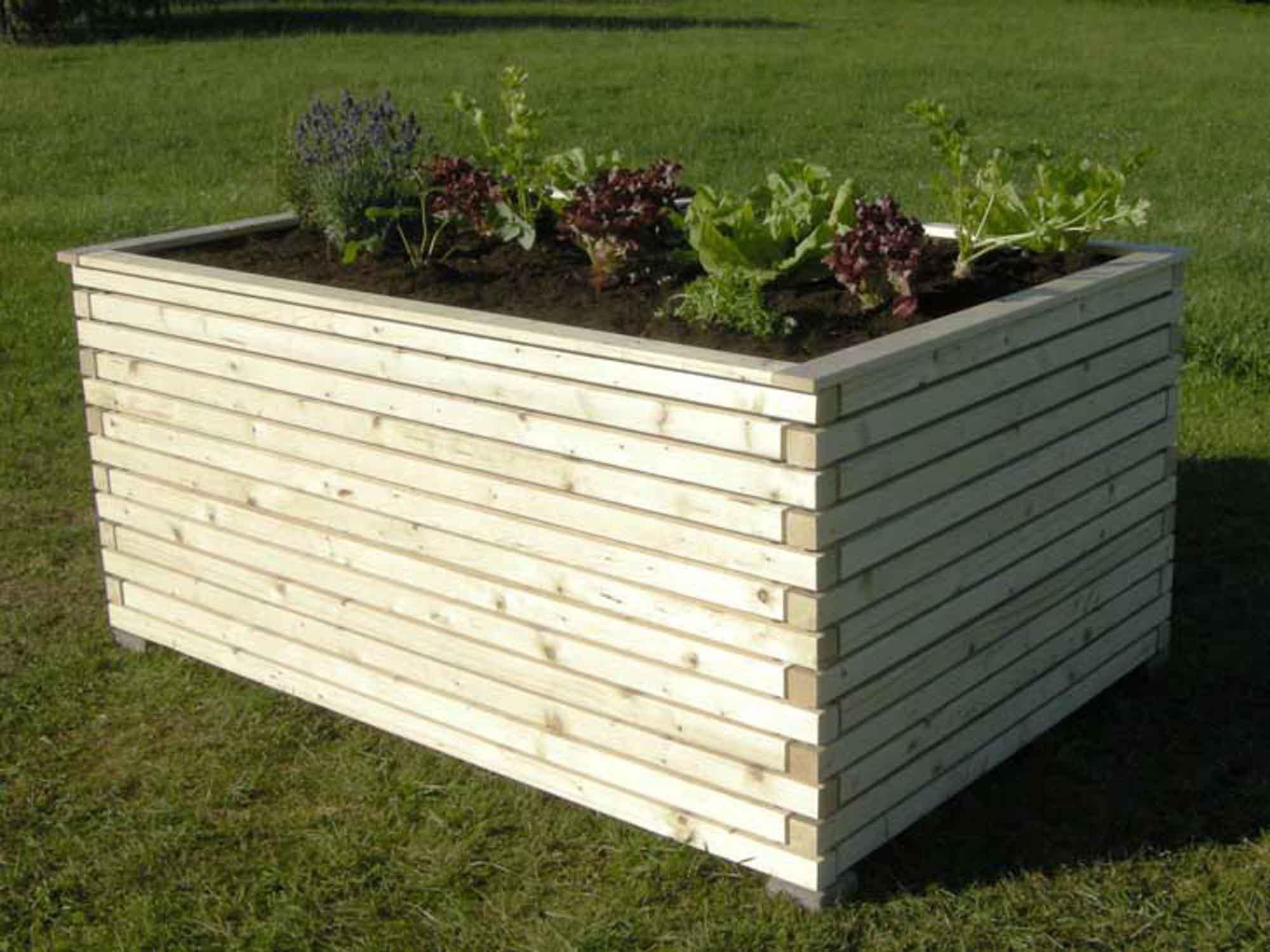 hochbeet zum selberbauen aus l rchenholz roh oder. Black Bedroom Furniture Sets. Home Design Ideas