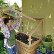 Treibhauaufsatz Dachklappe einsetzen