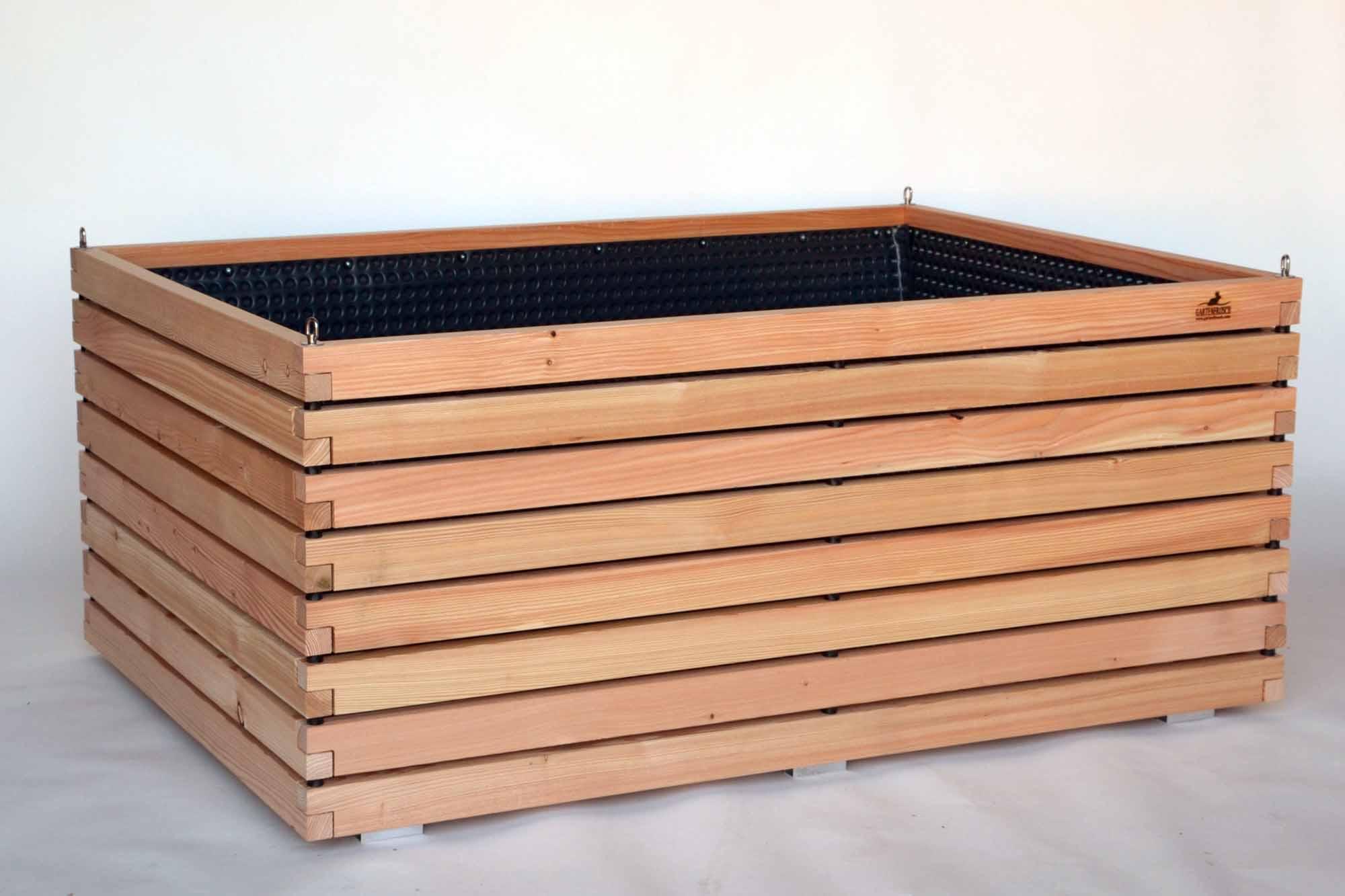 gro es hochbeet aus holz der l rche f r terrasse und einfahrt. Black Bedroom Furniture Sets. Home Design Ideas
