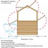 Skizze seitlicher Platzverbrauch Treibhaus