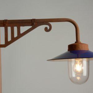 Außenlampe Retrolampe künstlich gerostet