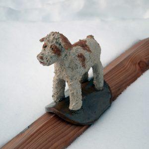 Schlawuzi-Hund Dachfigur aus Keramik