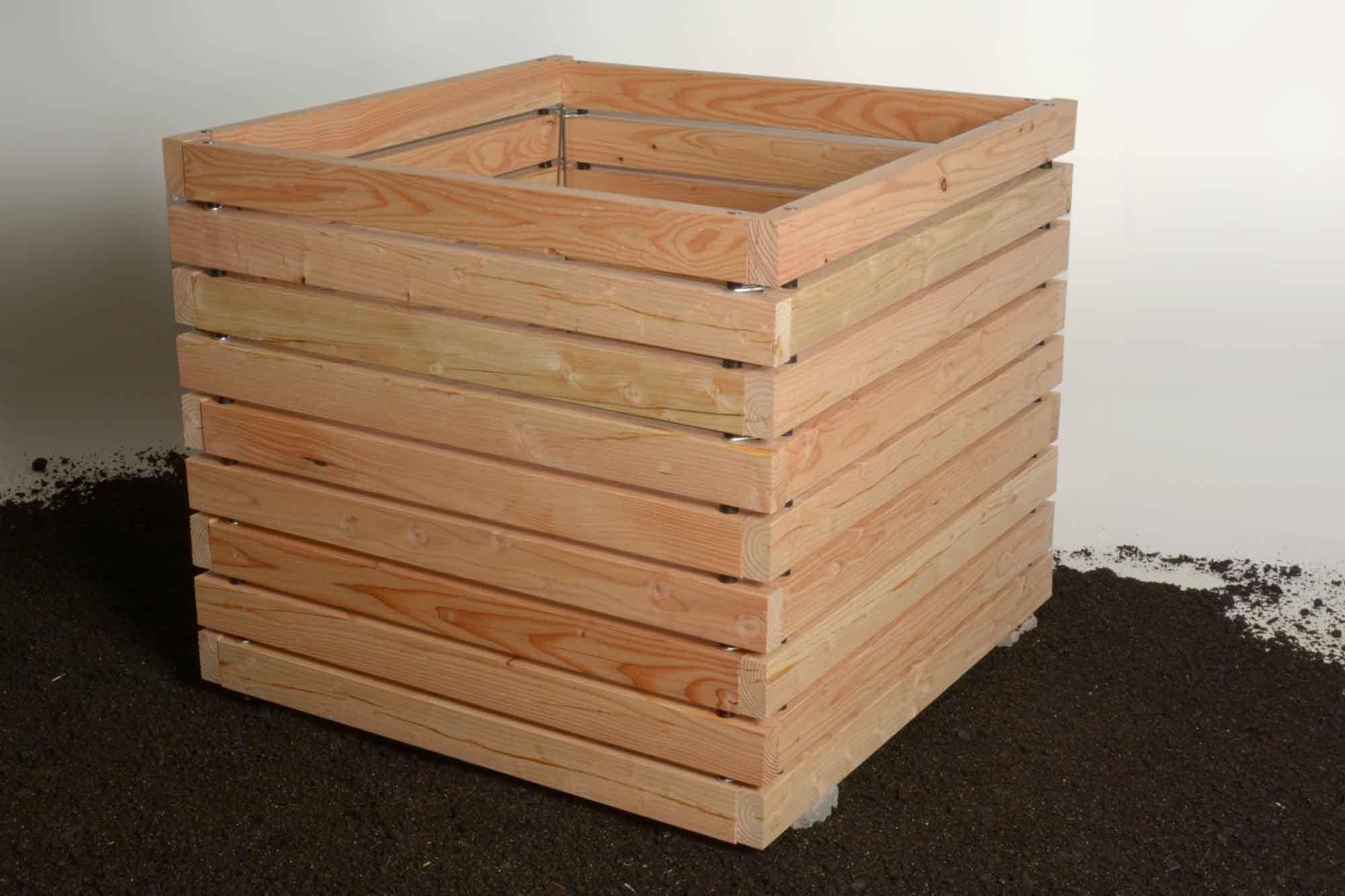 komposter aus l rchenholz innovatives stecksystem novom. Black Bedroom Furniture Sets. Home Design Ideas