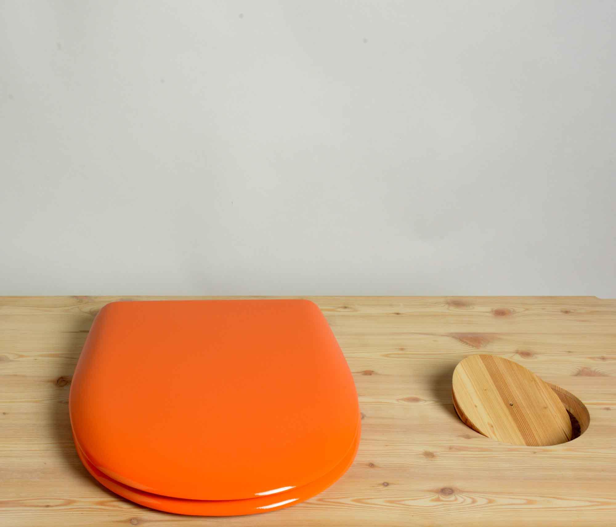 Toilettenbrille f r komposttoilette in verschiedenen farben - Wc oranje ...
