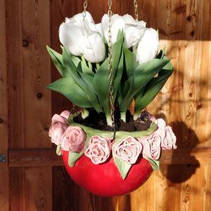 Blumenampel Rosentopf