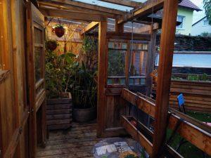 Winterplatz für Pflanzen