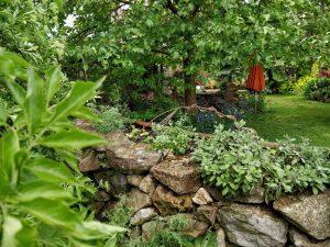 naturnaher Garten mit Sitzplatz